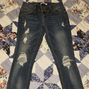 Ladies Refuge Distressed Blue Jean's Size 0